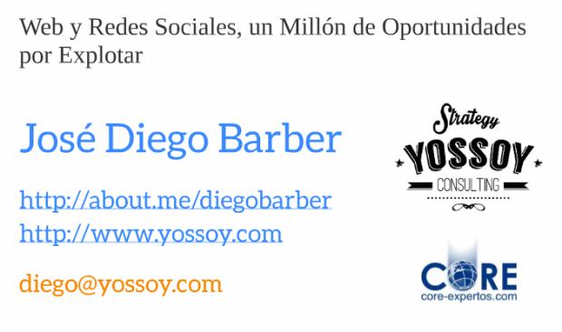 Ponencia Diego Barber en Jornadas Territoria y marca