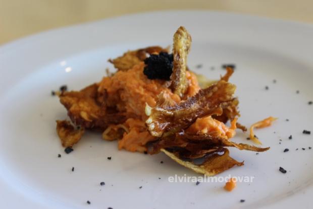 Blog Trip Alcachofa Vega Baja 2017 (c) elviraalmodovar chips de alcachofa de la Vega Baja con marisco